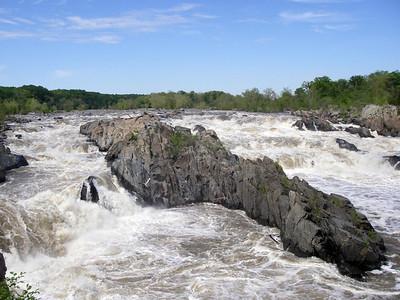 Great Falls of the Potomac River, Washington DC Sightseeing and Hiking Visit, April 26, 2006