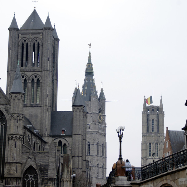The three spires of town