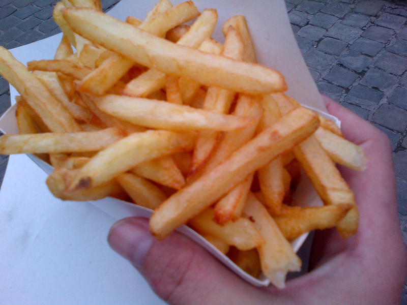 Double fired - the only way to go when frites are involved.