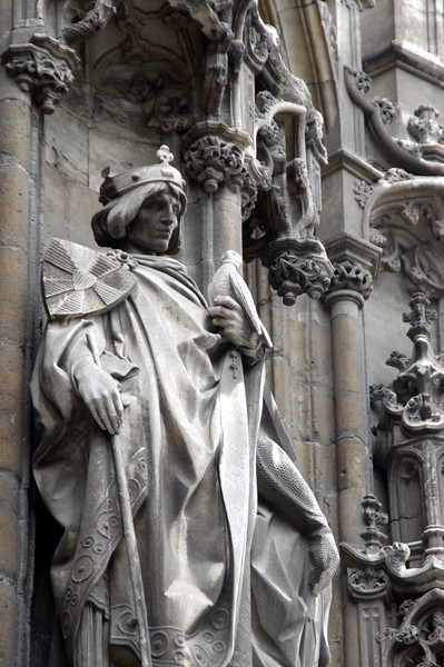 Pretty cool statues on the facade