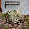 Copper Ore.  In the early days of mining with hand tools large blocks of ore like this could not be removed from the mine.  The copper did not split or crack into manageable sizes.