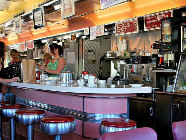 Counter at the Agawam Diner