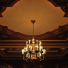 A chandelier in the lobby at Boston's Omni Parker House