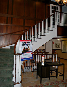 Stairway in the Olmsted Building at the Cranwell Resort, Spa, and Golf Club