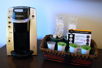 Keurig Machine in Room 311 at the Cranwell Resort, Spa, and Golf Club