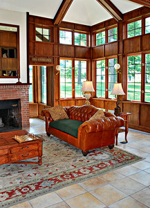 Lobby Area of the Olmsted Building at the Cranwell Resort, Spa, and Golf Club