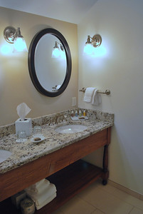 Vanity in the Bathroom of Room 311 in the Carriage House at the Cranwell Resort, Spa, and Golf Club