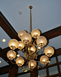 Chandelier in the Olmsted Building at the Cranwell Resort, Spa, and Golf Club
