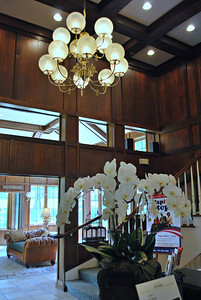 Reception Area Located in the Olmsted Building at the Cranwell Resort, Spa, and Golf Club