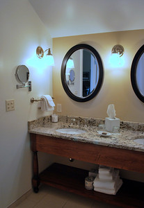 Bathroom in Room 311 of the Carriage House at the Cranwell Resort, Spa, and Golf Club