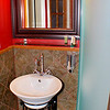 Sink are of the McKinnon Room bathroom