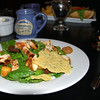 Chicken Caesar Salad and Parmesan Chip