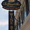 """Wine Bar sign at """"The Gris"""" in Essex, Connecticut"""