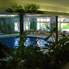 A view of the indoor pool