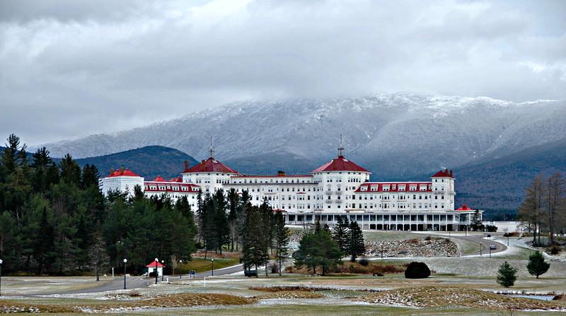 The Omni Mount Washington Resort sits at the base of Mount Washington in Bretton Woods, NH