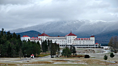 The Omni Mount Washington Resort sits at the base of Mount Washington in Bretton Woods, NH