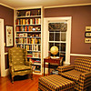 Guest Library at Peacock House