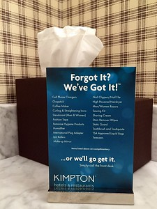 """Kimpton's """"Forgot It? We've Got It!"""" program at the Taconic Hotel in Manchester, VT"""