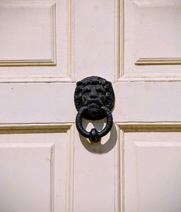 Doorknocker on the Front Door at Washingford House