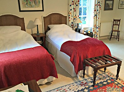 Twin bedroom at Washingford House