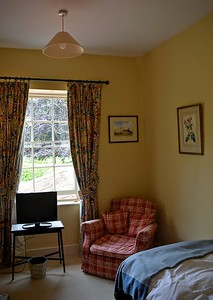 Chair in the Single Bedroom at Washingford House