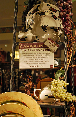 Display of Ahwahnee China in the Gift Shop.