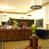 Lobby of the Ahwahnee Hotel.