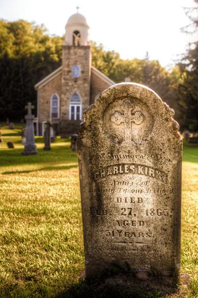 Here lies Charles Kirk