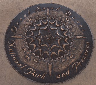 Medallion Located in Concrete at the Visitor's Center