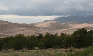 Dunes and Mt Herard in the Evening