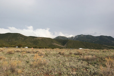 Mt Lindsey and Campground from Medano Creek