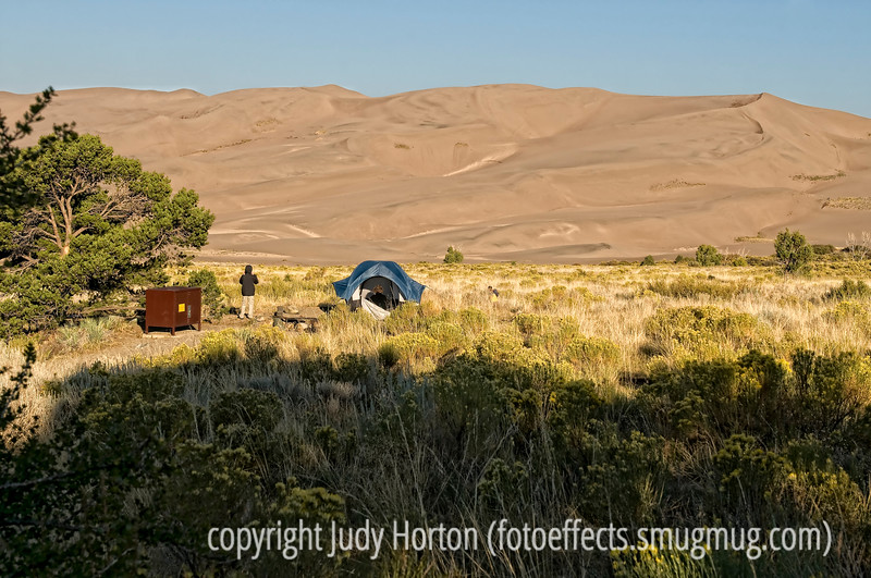 Early morning in the Great Sand Dunes National Park campground