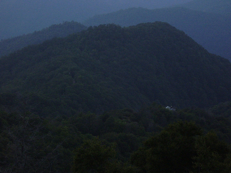 Darkness comes to the Smokies.