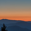 Crescent Moon sets over the Smoky Mountains at Dawn