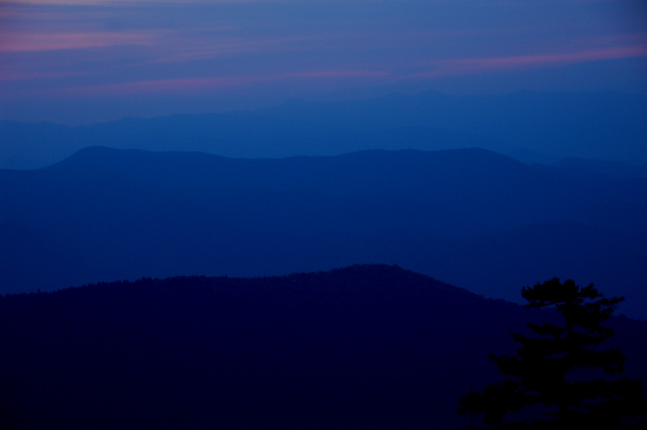 Waiting for sunrise at Clingman's Dome