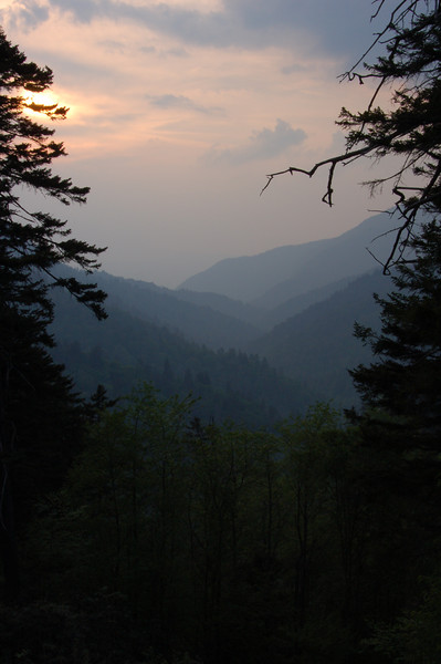 Sunset near Newfound Gap