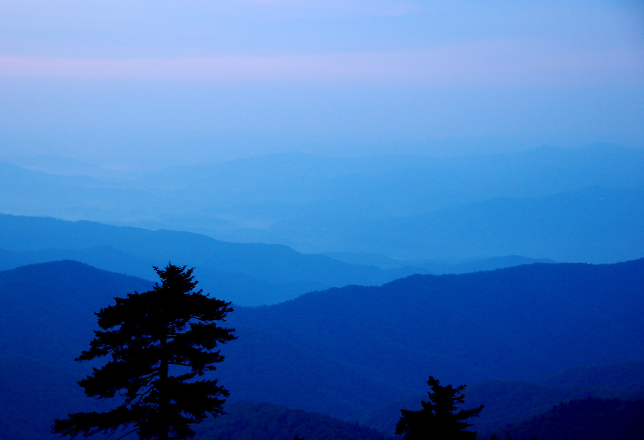 Watching for sunrise at Clingman's Dome
