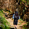 """A lone hiker travels the famous """"Appalachian Trail"""" covering 2,181 miles through 14 states.  He figured 4.5 months for his trek (around 15 miles/day)."""