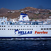 Ferry boat from Piraeus off Paros Island.