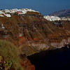 Santorini's cliffs, from our apartment at Imerovigli.