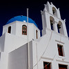Greek orthodox church, Oia Village, on Santorini.