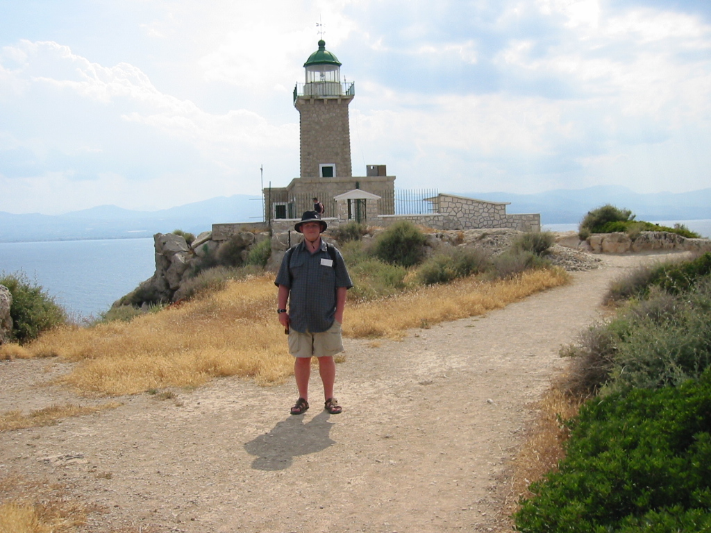 IMG_1596 -- me in front of lighthouse at Perchora