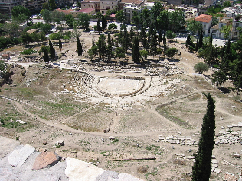 Theatre of Dionysus arial view -- IMG_0939