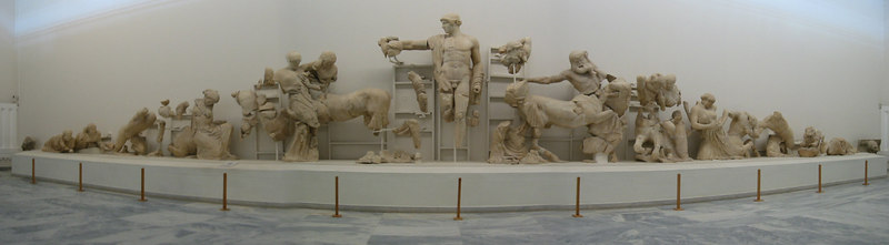 Centaurs and Lapiths Pediment