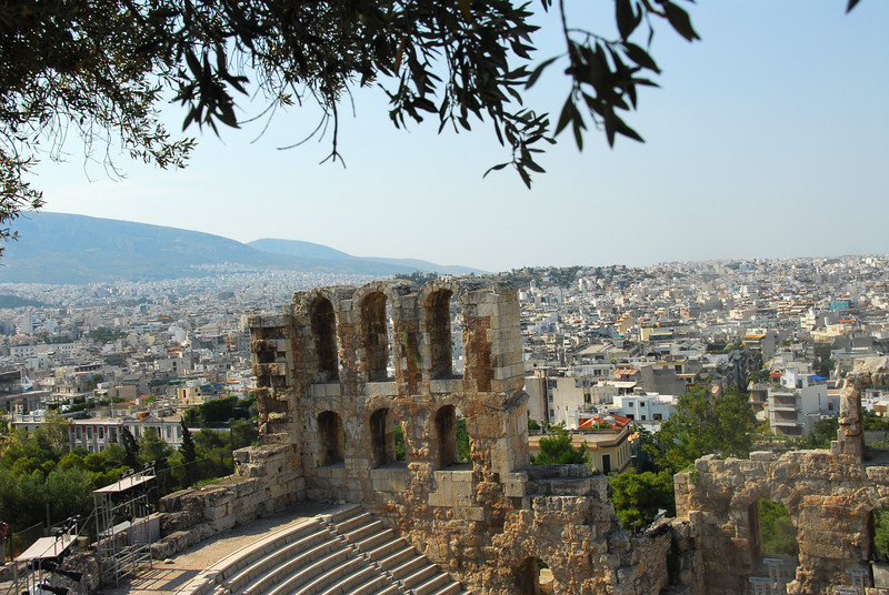 The Acropolis is towers over the city of Athens.  Here are pictures shot on the Acropolis and from the surrounding areas
