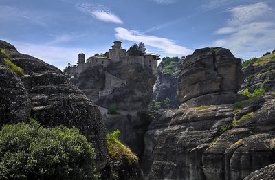 Meteora. Tone Mapped image from HDR composite: +2,-2,0 ev