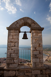 A bell a-top Palamidi Castle, in Nafplion.