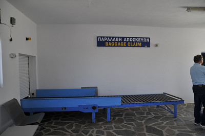 Baggage claim at Paros Airport