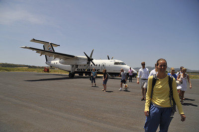 Olympic Airlines Dash 8 - Our ticket to Paros!