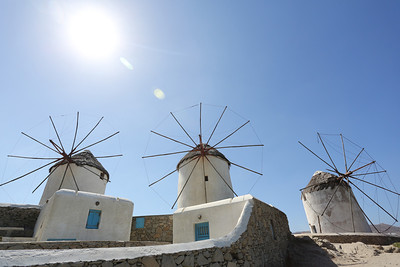 Windmills @ Mykonos Island,  Greece